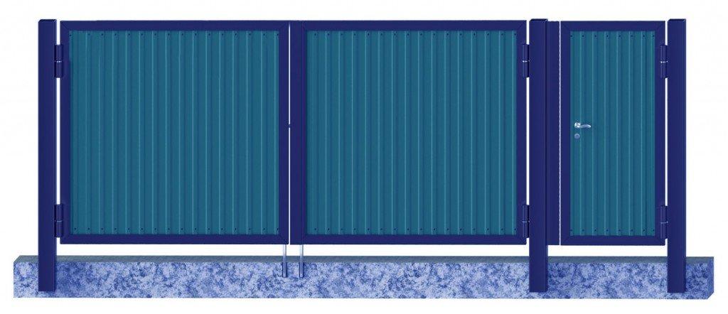 Конструкция ворот из профнастила вид снаружи