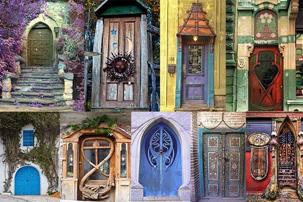20 Античных металлических и деревянных дверей