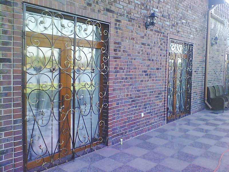 Решетчатые двери для террасы