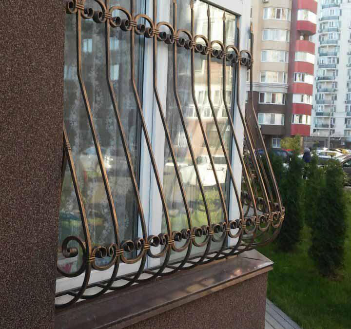 Решетка на половину окна — балконное ограждение от 27.10.16