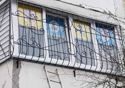 Луковичная решетка на окно от 05.11.19 (артикул 51119)